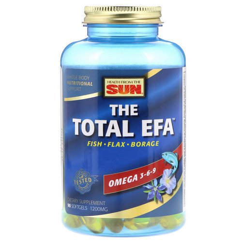Health From The Sun, The Total EFA, 1200 mg, 90 Softgels Review