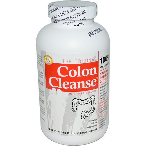 Health Plus, The Original Colon Cleanse, One, 625 mg, 200 Capsules Review
