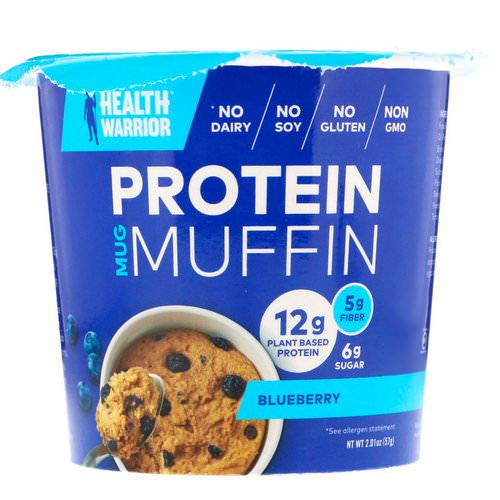 Health Warrior, Protein Mug Muffin, Blueberry, 2.01 oz (57 g) Review