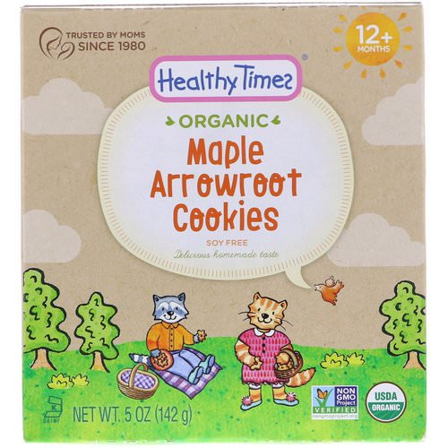 Healthy Times, Organic, Arrowroot Cookies, Maple, 12+ Months, 5 oz (142 g) Review