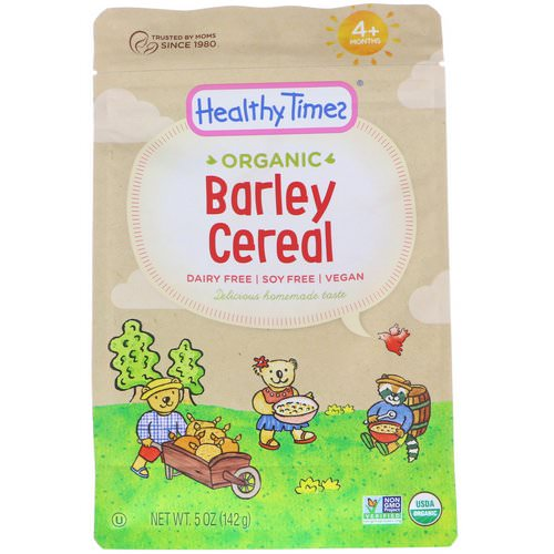 Healthy Times, Organic, Barley Cereal, 4+ Months, 5 oz (142 g) Review
