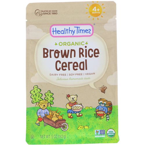 Healthy Times, Organic, Brown Rice Cereal, 4+ Months, 5 oz (142 g) Review