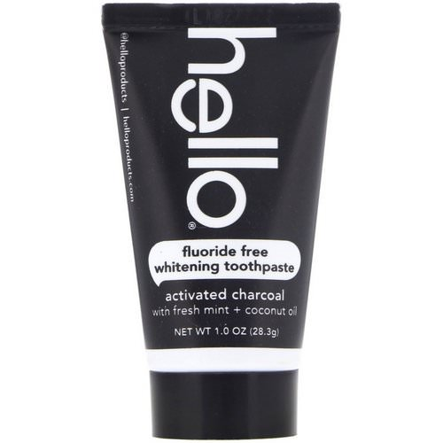 Hello, Fluoride Free Whitening Toothpaste, Activated Charcoal, 1.0 oz (28.3 g) Review