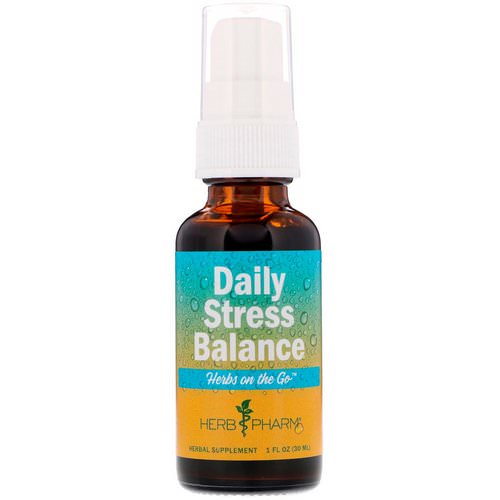 Herb Pharm, Herbs on the Go, Daily Stress Balance, 1 fl oz (30 ml) Review