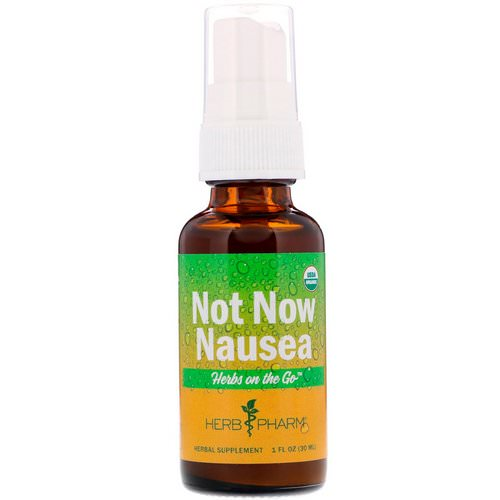Herb Pharm, Herbs on the Go, Not Now Nausea, 1 fl oz (30 ml) Review