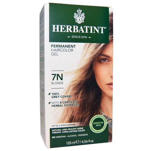 Herbatint, Permanent Haircolor Gel, 7N Blonde, 4.56 fl oz (135 ml) Review