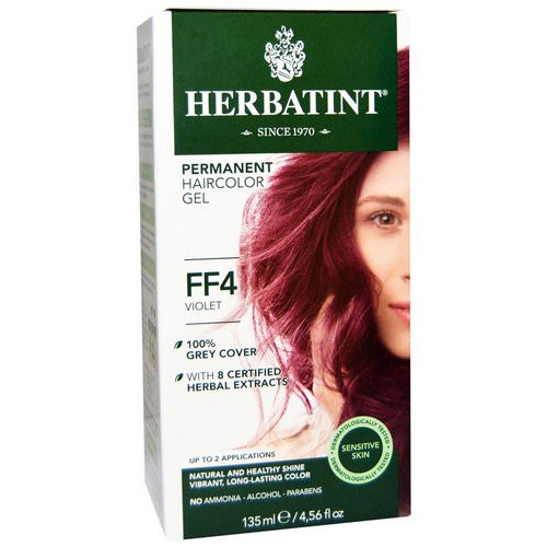 Herbatint, Permanent Haircolor Gel, FF 4, Violet, 4.56 fl oz (135 ml) Review