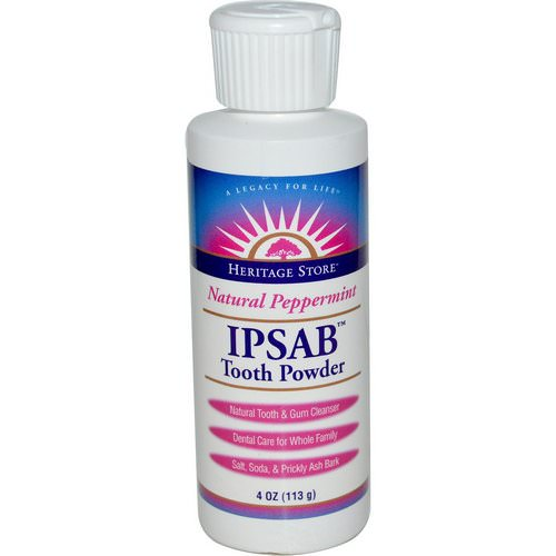 Heritage Store, IPSAB Tooth Powder, Natural Peppermint, 4 oz (113 g) Review