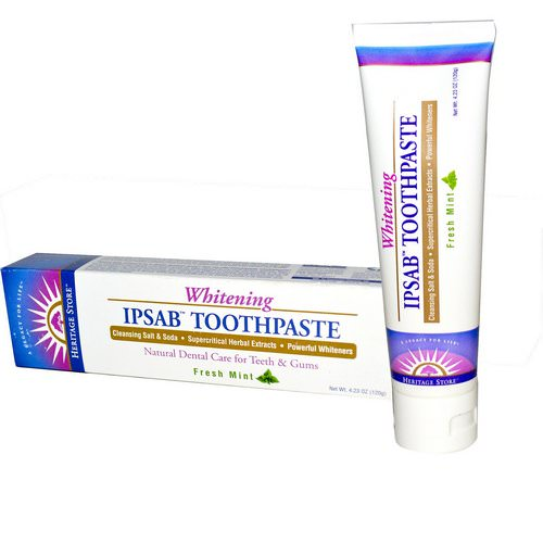 Heritage Store, IPSAB, Whitening Toothpaste, Fresh Mint, 4.23 oz (120 g) Review