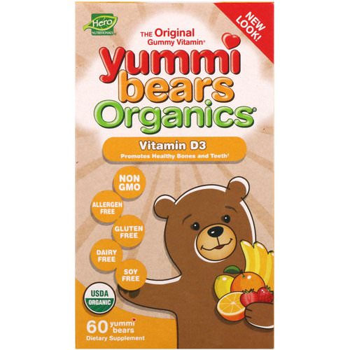 Hero Nutritional Products, Yummi Bears Organics, Vitamin D3, 60 Yummi Bears Review