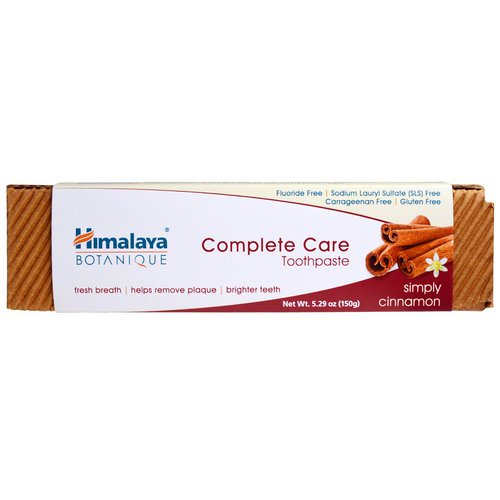 Himalaya, Botanique, Complete Care Toothpaste, Simply Cinnamon, 5.29 oz (150 g) Review