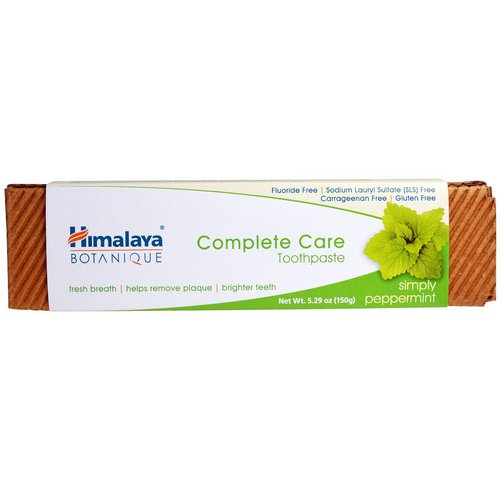 Himalaya, Botanique, Complete Care Toothpaste, Simply Peppermint, 5.29 oz (150 g) Review