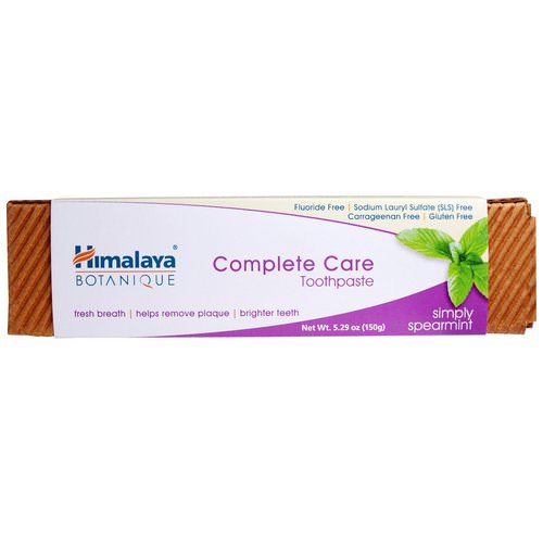 Himalaya, Botanique, Complete Care Toothpaste, Simply Spearmint, 5.29 oz (150 g) Review