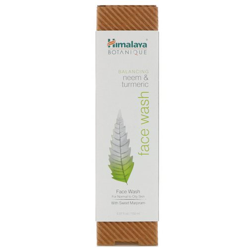 Himalaya, Botanique, Neem & Turmeric Face Wash, 5.07 fl oz (150 ml) Review