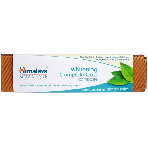 Himalaya, Botanique, Whitening Complete Care Toothpaste, Simply Mint, 5.29 oz (150 g) Review