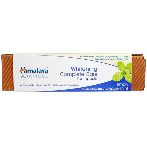 Himalaya, Botanique, Whitening Complete Care Toothpaste, Simply Peppermint, 5.29 oz (150 g) Review