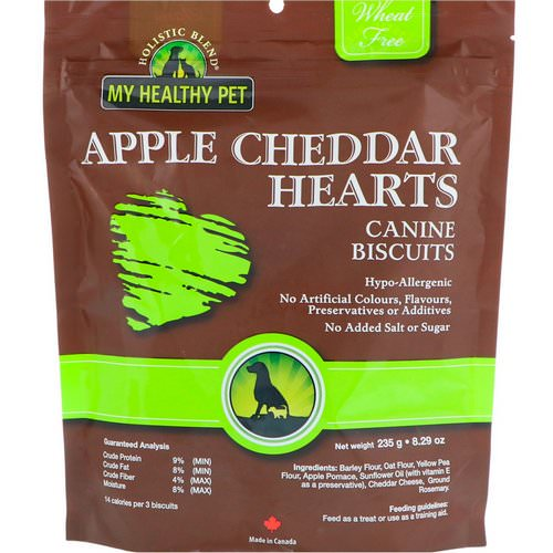 Holistic Blend, My Healthy Pet, Apple Cheddar Hearts, Canine Biscuits, 8.29 oz (235 g) Review