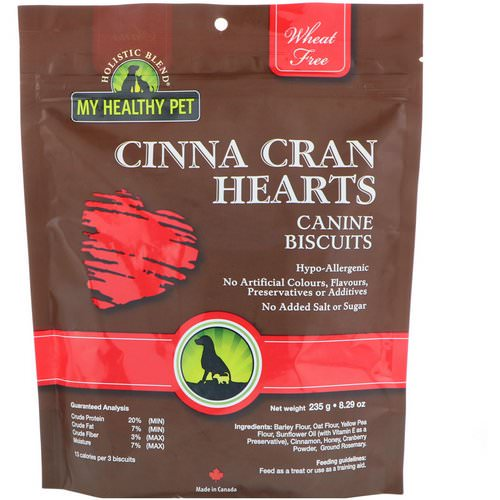 Holistic Blend, My Healthy Pet, Cinna Cran Hearts, Canine Biscuits, 8.29 oz (235 g) Review