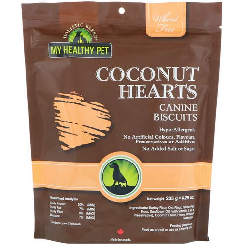 Holistic Blend, My Healthy Pet, Coconut Hearts, Canine Biscuits, 8.29 oz (235 g) Review