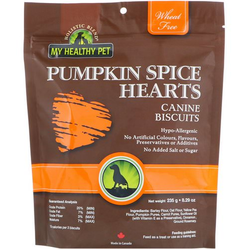 Holistic Blend, My Healthy Pet, Pumpkin Spice Hearts, Canine Biscuits, 8.29 oz (235 g) Review