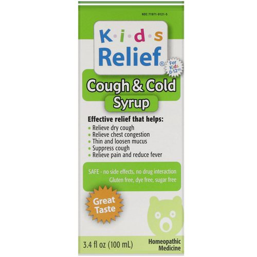 Homeolab USA, Kids Relief, Cough & Cold Syrup, 3.4 fl oz (100 ml) Review