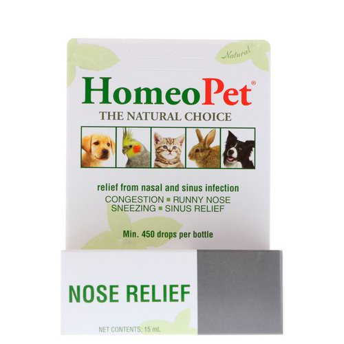 HomeoPet, Nose Relief, 15 ml Review
