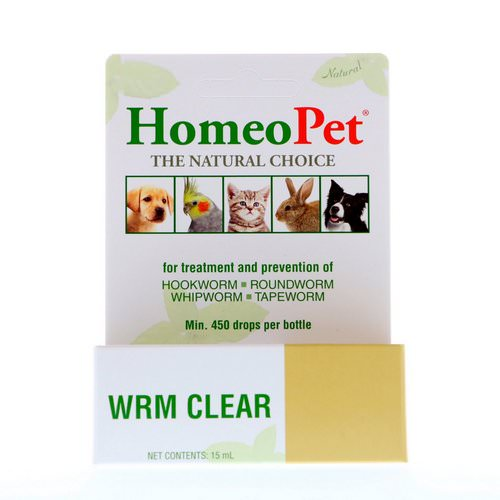 HomeoPet, WRM Clear, 15 ml Review