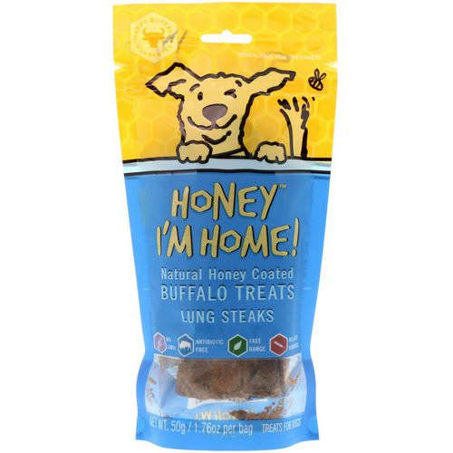 Honey I'm Home, Natural Honey Coated Buffalo Treats, Lung Steaks, 1.76 oz (50 g) Review