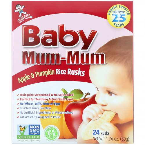 Hot Kid, Baby Mum-Mum, Apple & Pumpkin Rice Rusks, 24 Rusks, 1.76 oz (50 g) Review