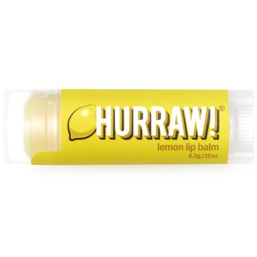 Hurraw! Balm, Lip Balm, Lemon, .15 oz (4.3 g) Review