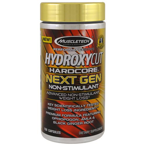 Hydroxycut, Performance Series, Hydroxycut Hardcore Next Gen Non-Stimulant, 150 Capsules Review