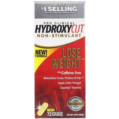Hydroxycut, Pro Clinical Hydroxycut, Non-Stimulant, 72 Rapid-Release Capsules Review