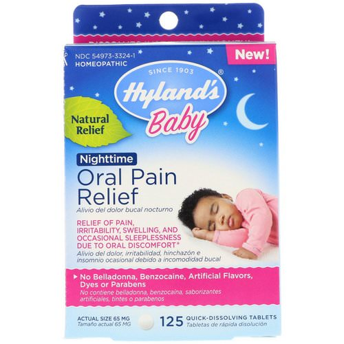 Hyland's, Baby, Oral Pain Relief, Nighttime, 125 Quick-Dissolving Tablets Review