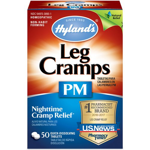 Hyland's, Leg Cramps PM, 50 Quick-Dissolving Tablets Review