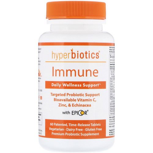 Hyperbiotics, Immune, Daily Wellness Support, 60 Time-Release Tablets Review