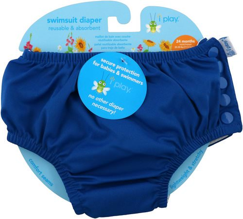 i play Inc, Swimsuit Diaper, Reusable & Absorbent, 24 Months, Royal Blue, 1 Diaper Review