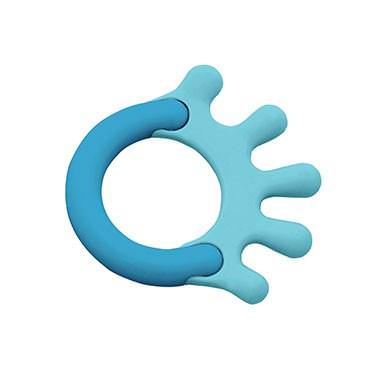 iPlay Inc. Green Sprouts, Cornstarch Hand Teether, Blue, 1 Teether