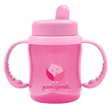 iPlay Inc. Green Sprouts, Flip-Top Sippy, Pink, 6oz (180 ml)