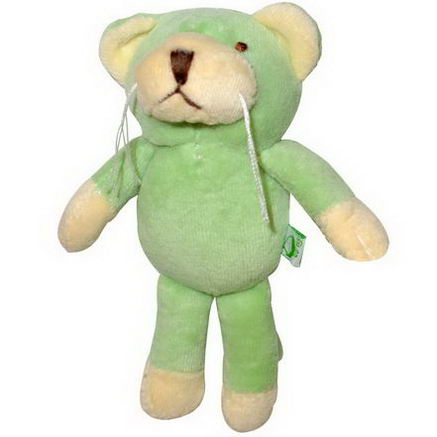 iPlay Inc. Green Sprouts, Velour Rattle Toy, Sage Cat, 3+ Months, 1 Toy