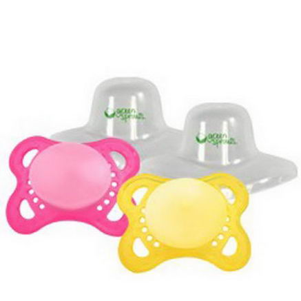 iPlay Inc. Pacifiers 0-6 Months, Girl, 2 Pack