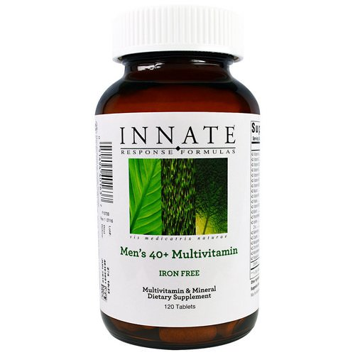 Innate Response Formulas, Men's 40+ Multivitamins, Iron Free, 120 Tablets Review