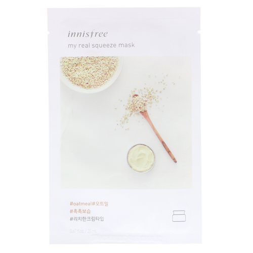 Innisfree, My Real Squeeze Mask, Oatmeal, 1 Sheet Review
