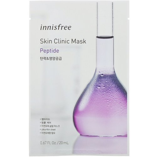 Innisfree, Skin Clinic Mask, Peptide, 1 Sheet Review
