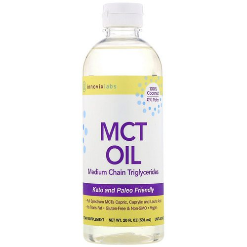 InnovixLabs, MCT Oil, Medium Chain Triglycerides, Unflavored, 20 fl oz (591 ml) Review