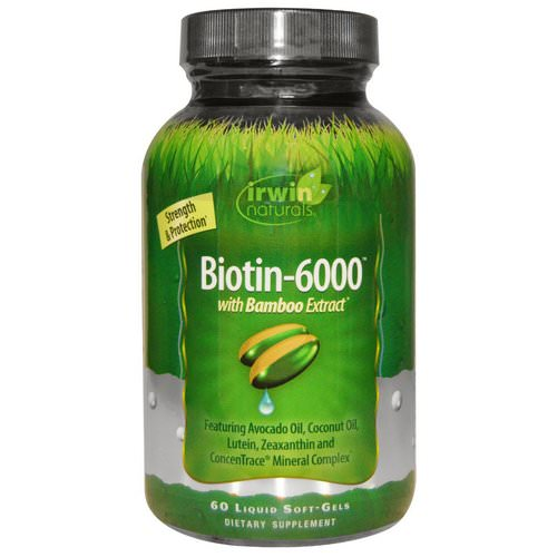 Irwin Naturals, Biotin-6000, With Bamboo Extract, 60 Liquid Soft-Gels Review