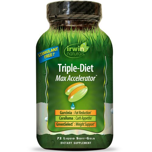 Irwin Naturals, Triple-Diet, Max Accelerator, 72 Liquid Soft-Gels Review