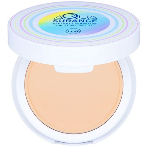 J.Cat Beauty, Aquasurance Compact Foundation, ACF101 Ivory, 0.31 oz (9 g) Review