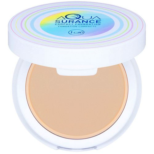 J.Cat Beauty, Aquasurance Compact Foundation, ACF102 Natural, 0.31 oz (9 g) Review