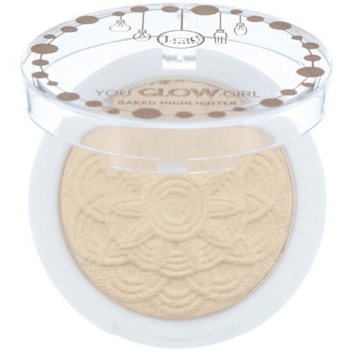 J.Cat Beauty, You Glow Girl, Baked Highlighter, YGG105 Moon Light, 0.30 oz (8.5 g) Review