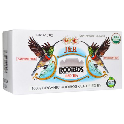 J&R Port Trading Co, J&R Rooibos Red Tea, Caffeine Free, 20 Tea Bags, 1.765 oz (50 g) Review